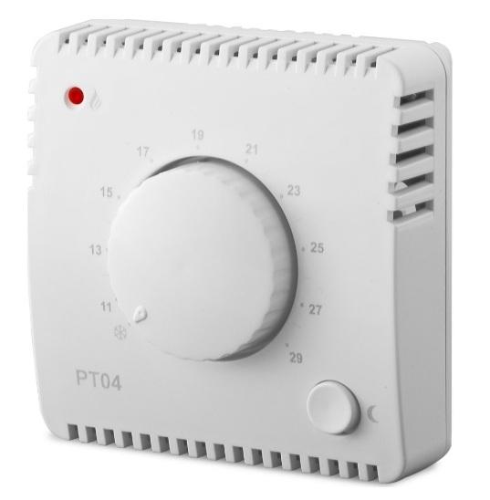 panele grzewcze sterowanie PT04 termostat natynkowy