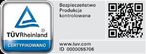 Certyfikat bezpieczeństwa i jakości TÜV